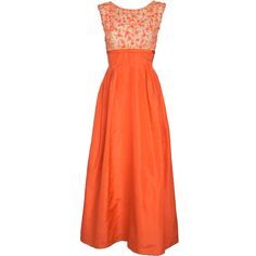 I just love this dress.   VINTAGE 1960s CORAL TAFFETA GOWN w ILLUSION BEADED BODICE explore items from 1,700  global dealers at 1stdibs.com