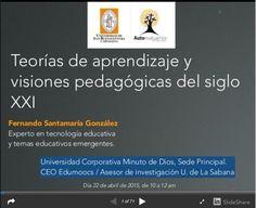 """Hola: Compartimos una interesante infografía sobre """"Teorías de Aprendizaje y Visiones Pedagógicas del Siglo XXI"""" Un gran saludo.  Visto en: slideshare.net Acceda a la presentación…"""