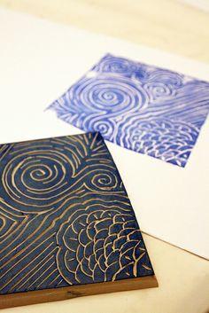 Alisa Burke's hand carved stamps