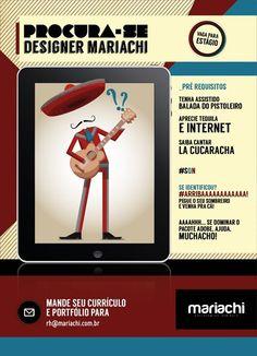 Vaga de estágio para Designer na Mariachi Estratégias Digitais!