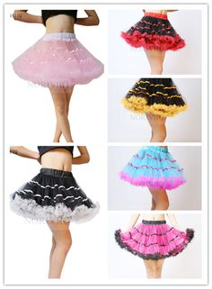 UK Tutu Retro 6 Colors 2 Layers Soft Petticoat Vintage Bridal Underskirt Slips