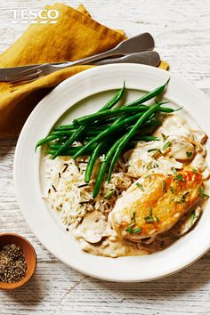 Add a dash of luxury to your chicken supper with this rich, creamy mushroom sauce recipe. Dried and fresh mushrooms add a deep, earthy flavour, while fragrant tarragon adds freshness.   Tesco