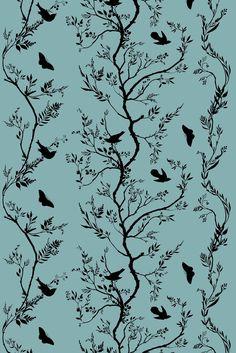 Timorous Beasties Fabric - Birdbranch Stripe Velvet. Shop - Timorous Beasties - CRAZY BEAUTIFUL things here!!!