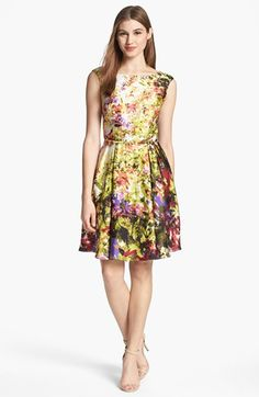 Donna Ricco Print Fit & Flare Dress available at #Nordstrom