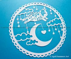 PERSONAL Cow jumped over the moon DIY Papercutting Template Baby Children