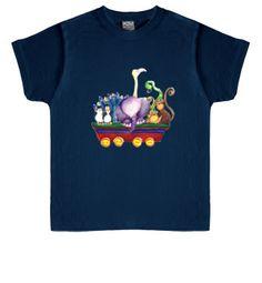 Camiseta Vagón de animales. Para niños y niñas. 16,90€