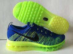 finest selection 82a7a cb16f Nike Flyknit Air Max 2014 L Parskor F R M N Blå Gr N Online FRAKTFRITT AV  DHL. Martha Sneakers