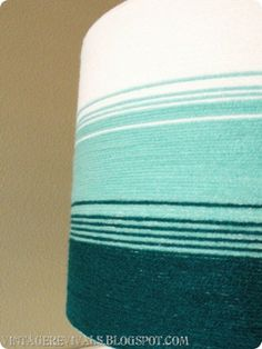 cover a lampshade with yarn to create an ombre pattern and texture: great instructions                                                                                                                                                                                 More