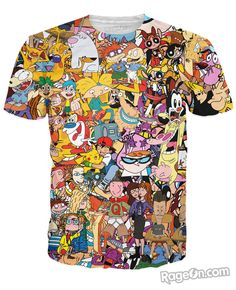 T-shirt 90s : Rugrats, Pokemon, Hey Arnold, Doug, Animaniacs, Johnny Bravo....!!