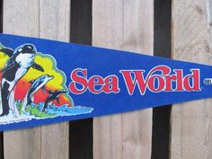 Sea World, Pennant, Souvenirs, Pennents, Pennants, Travel Collectibles, FREE shipping http://therecycledgreenrose.myshopify.com/products/sea-world-pennant-souvenirs-pennents-pennants-travel-collectibles-free-shipping
