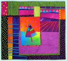 Melody Johnson: Art Quilts - Galleries - Pine Tree Series