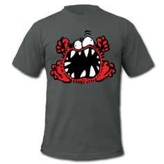 Angry Little Cartoon Monster by Cheerful Madness!! T-Shirt | Spreadshirt | ID: 26380798 #monster #cute #cartoon #angry #fluffy #tshirts #gifts #spreadshirt #cheerfulmadness #UK #christmas