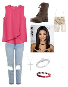 """Untitled #395"" by rikey-byrnes on Polyvore featuring Topshop, MANGO, Charlotte Russe and Ice"