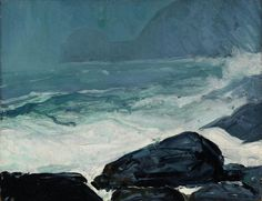 """""""Burnthead,"""" George Wesley Bellows, 1913, Oil on panel, 15 x 19 1/2"""", Private collection."""