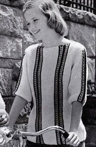Pullover Sweater knit pattern from Fashions & Fun for the Almost Teens, Bernat Handicrafter Book No. 59 from 1957.