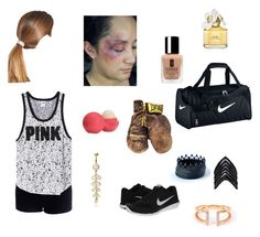 """""""Boxing"""" by captain-america-334 ❤ liked on Polyvore featuring Misbehave, Everlast, NIKE, L. Erickson, Lynn Ban, Adina Reyter, Marc Jacobs, Eos and Clinique"""