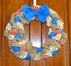 MLB Burlap Wreath by KsSouthernCharm on Etsy