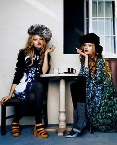 mentalstability:    Gemma Ward and Lily Donaldson in Vogue Italia May 2008 shot by Emma Summerton