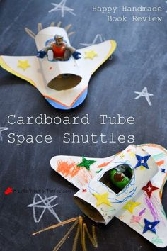 a fun and easy toilet paper roll and cereal box craft. Your little space explorer