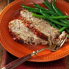 Mushroom Meat Loaf Recipe -Although I don't consider myself much of a cook, this recipe is delicious. It's moist, tender, and the sauce has a nice zip to it. The mushrooms and ground turkey are a nice combination.—Tyler Sherman, Williamsburg, Virginia