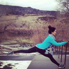 From The Bar Method Dallas, zinger in front of Snake River Canyon in Idaho!! #WhereDoYouBar? #barmethod #exercise #fitness #travel #Idaho