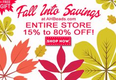 We love Autumn! Come visit our store to find your Fall jewelry design supplies! http://www.ahbeads.com
