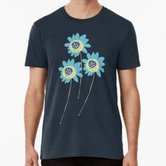 ' Clover Spring Blue by Hannelie Gouws Long Hoodie, Laptop Sleeves, Chiffon Tops, Classic T Shirts, Mini Skirts, T Shirts For Women, Spring, Pattern, Mens Tops
