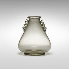 In the manner of Napoleone Martinuzzi. Soffiato vase. c. 1930, soffiato glass with applied details. 8 dia x 9½ h in.