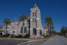 First United Methodist Church, built in 1905, Brunswick, Ga. My wedding location and church at the time!