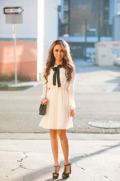Kim Le looks gorgeous in this romantic dress! Find similar petite dresses at www.plumsociety.com