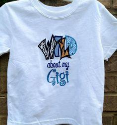 Items similar to Boy Applique Shirt Gigi any Grandparent name on Etsy Gigi Shirts, Cool Tee Shirts, Cool Tees, T Shirt, Boy Applique Shirts, Dad And Son Shirts, Baby Olivia, Grandma Quotes, Wolf Girl
