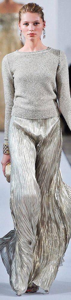 #Oscar de la Renta-Luxury catwalk designs @#Luxury.com via Vogue
