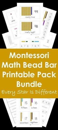 Every Star Is Different: Montessori Math Bead Bar Printable Pack Bundle in Print