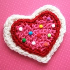 Lion Brand® Vanna's Choice® Sweetheart Sugar Cookie Brooch (Crochet)