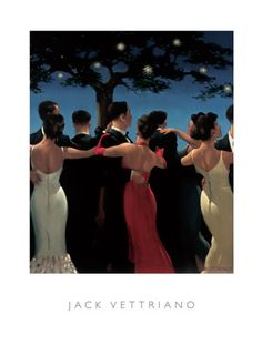 Jack Vettriano really knows how to combine two elements beautifully... the sculpture of the human body and the romance of dancing!