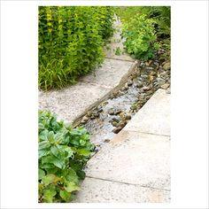 wasserspiel garten I want a rill in my garden. Garden Stream, Rain Garden, Garden Pond, Water Garden, Dream Garden, Pond Design, Garden Design, Garden Waterfall, Water Features In The Garden