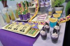 Rapunzel + Tangled themed birthday party with So Many Cute Ideas via Kara's Party Ideas | KarasPartyIdeas.com Full of decorating tips, cake, games, favors, printables, and MORE! #tangledparty #rapunzelparty #tangled #partyideas #partyplanning #eventstyling (9)