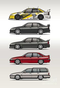 Stack Of Opel Omegas Vauxhall Carlton A Digital Art by Monkey Crisis On Mars