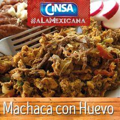 #Cinsa #CinsaALaMexicana #Recetas #Mexicanas #RecetasMexicanas #México #Comida #ComidaMexicana #peltre #MarcasMexicanas #MachacaConHuevo #Chihuahua