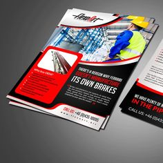 New brochure layout for mechanical engineering company by designer_Raj