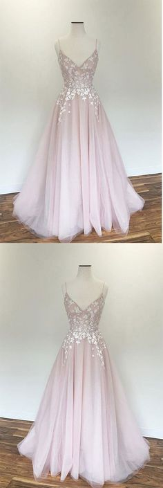 Light pink v neck tulle applique long prom dress, pink evening dress, Shop plus-sized prom dresses for curvy figures and plus-size party dresses. Ball gowns for prom in plus sizes and short plus-sized prom dresses for Pretty Prom Dresses, Pink Prom Dresses, Trendy Dresses, Dance Dresses, Ball Dresses, Homecoming Dresses, Cute Dresses, Beautiful Dresses, Ball Gowns
