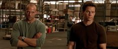 The Italian Job-Jason Stratham and Mark Wahlberg---what not to love.