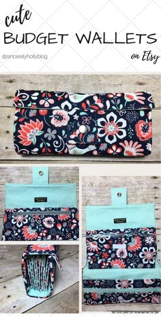 Love this cute floral cash envelope wallet system off Etsy! Fabric is beautiful and soft, perfect for organizing all funds for the week! Dave Ramsey fans will love this ... money tips, money, budgeting, budget, financial planning, financial freedom, financial peace university, money management.