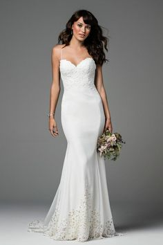 Watters Ridley Laser Cut Lace Gown Modern Wedding Dress Size 8 (M) Wedding Dress Sizes, New Wedding Dresses, Bridal Dresses, Wedding Stuff, Wedding Ideas, Wedding Inspiration, Fashion Inspiration, Wedding Planning, Blush Bridal