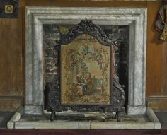 Régence style carved walnut firescreen late 19th century the shaped cresting centred by a 17th century fragment of needlework above a French tapestry panel, 18th century, on shaped legs