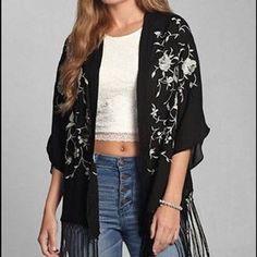 Steals on Poshmark....Abercrombie & Fitch Jackets & Blazers - Ambercrombie & Fitch black Kimono