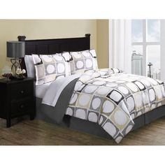 @Overstock - Elroy is a printed microfiber bedding set that includes a comforter, shams, bedskirt and sheet set. The year-round comforter set is easy to care for and features a fun lively print design.http://www.overstock.com/Bedding-Bath/Elroy-8-piece-Bed-in-a-Bag-with-Sheet-Set/7502085/product.html?CID=214117 $69.00
