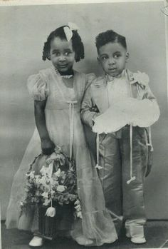 Vintage wedding and the cutest little pair!....Flower Girl and Ring Bearer
