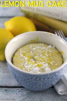 Lemon Mug Cake Recipe - Life Love Liz - http://tassenkuchen-selber-machen.de/allgemein/lemon-mug-cake-recipe-life-love-liz/