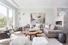 Wentworth - casual contemporary designed by Beyond Beige Interior Design in North Vancouver - CAANdesign House Design, Stylish Living Room, Interior, Beige Interior, Interior Design, Living Decor, Cozy Interior, Industrial Home Design, Living Room Designs